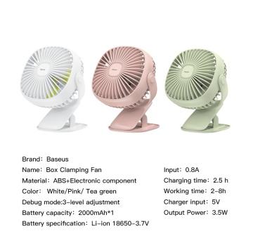 Quạt Baseus Clamping Fan (2 - 6.5 tiếng dùng liên tục)